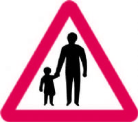 Pedestrians On Road Ahead